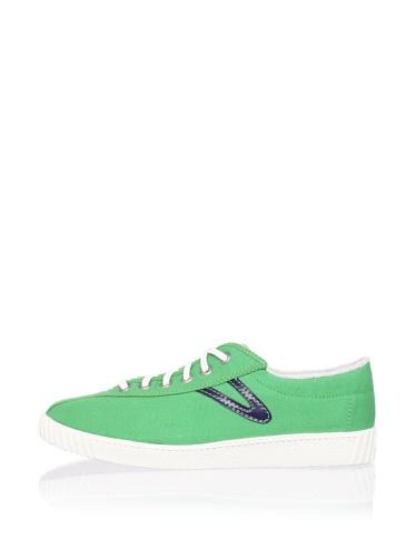 Tretorn Men's Nylite Canvas Sneaker (Green/Navy Blue)