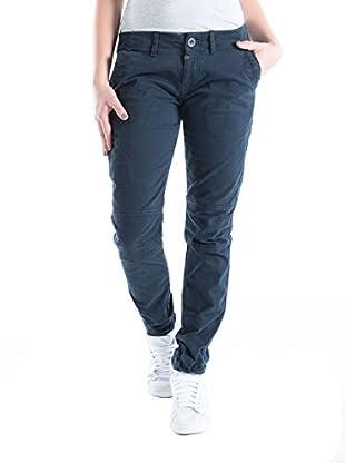 Timezone Elenatz Chino Pants, Pantalones para Mujer, Blau (Dark Navy 391), W26