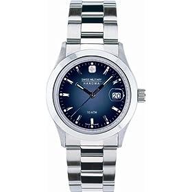 SWISS MILITARY (スイスミリタリー) 腕時計 ML/100 エレガント ネイビー文字盤 メタルブレスレット メンズ
