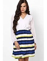 Ecstatic Stripe Play Wrap Dress