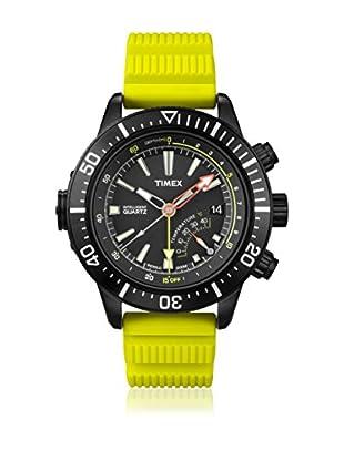 Timex Reloj de cuarzo Man Iq Depth Amarillo 46 mm