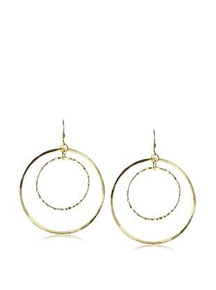 Charlene K Double Circle Hammered Earrings