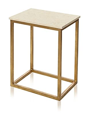Safavieh Tad Accent Table (Ivory/Gold)