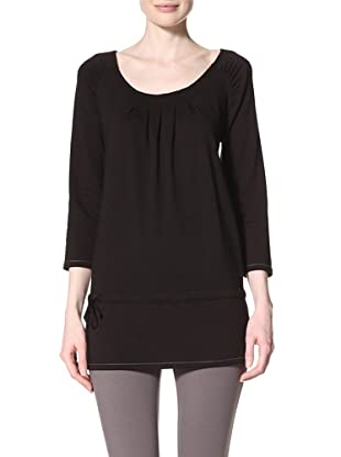 alo Sport Women's Pleated Yoga Tunic (Black)