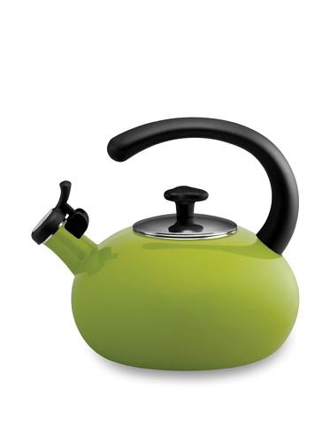 Rachael Ray 2-Qt. Porcelain Curve Tea Kettle (Green)
