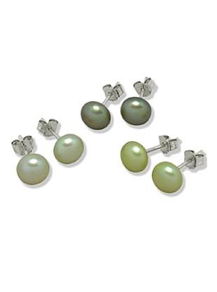 Valero Pearls 60200125 - Pendientes de mujer de plata con perla cultivada de agua dulce
