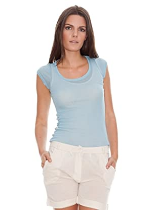American Vintage Camiseta Massachussets (Azul Claro)