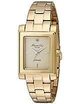 Kenneth Cole Genuine Diamond Analog Gold Dial Women's Watch - 10022542