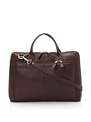 Latico Heritage Collection Slim Top-Zip Briefcase (Café)