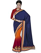 Indian Women Lavishing Silk Jacquard Violet Saree with Blouse