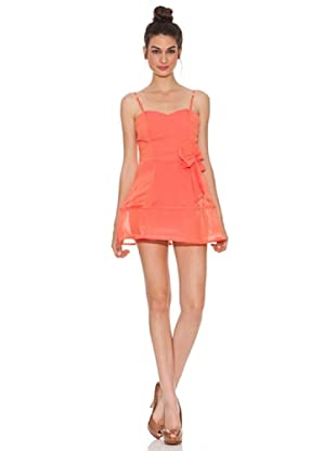 Rare Vestido Brillantes (Coral)
