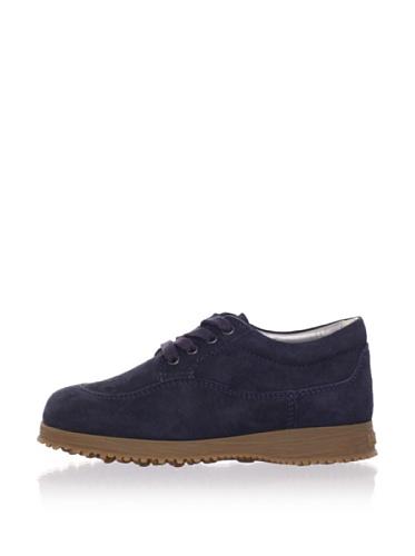 Hogan Kid's Suede Fashion Sneaker (Navy)