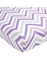 CoCaLo Mix & Match Chevron Fitted Sheet, Violet (Discontinued by Manufacturer)