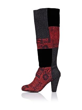 Desigual Botas Mujer (Rojo)