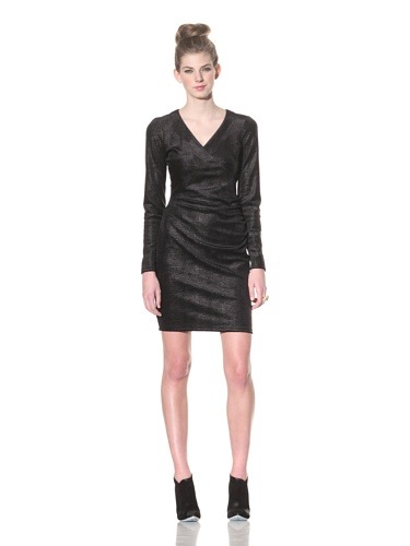 Betsey Johnson Women's Snake Foil Velvet Dress (Black)