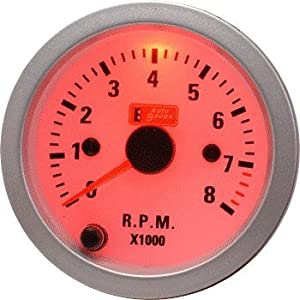 Auto Gauge Car Tachometer / R.P.M 2 Inches For Petrol 4. 6 3 Cylinders(7 Color Backlight)