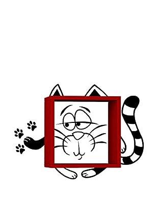 Matte Maison  Regalbrett Cat rot
