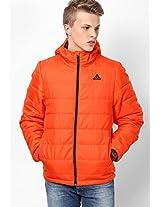 Orange Training Quilted Jacket