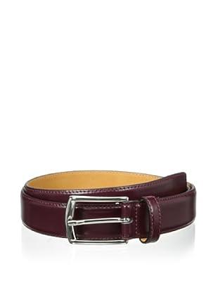 Leone Braconi Men's Soave Slim Belt (Bordeaux)