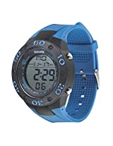 Sonata Superfibre Digital Grey Dial Men's Watch - 77035PP01