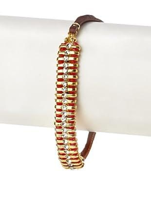 Shashi Ruby Swarovski Delicate 1-Row Bracelet