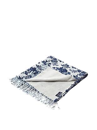 Lexington Company Manta Floral (Azul / Beige)