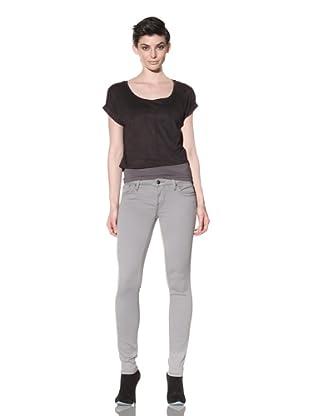 Workcustom Women's Viper Sateen Skinny Jeans (Slate Grey)