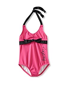 Hurley Girls 4-6x One and Only One-Piece Swimsuit (Pink)