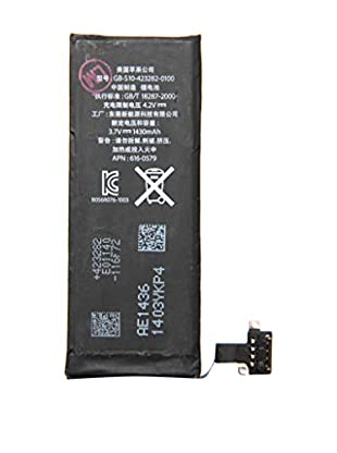 Unotec Batterie iPhone 4S 1430 mAh schwarz
