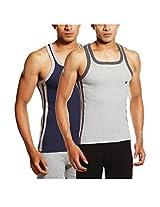 ONN NS524 Men's Cotton Multi Colour Sports Vest Pack of 2 (X-Large)