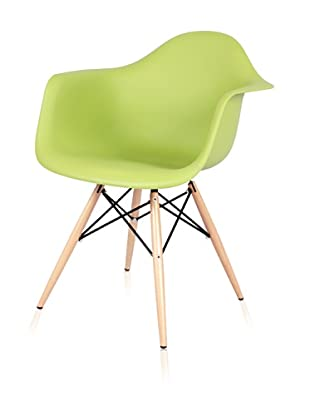 Control Brand Mid-Century-Inspired X-Leg Arm Chair (Green)