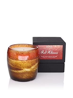 D.L. & Co. Red Hibiscus Artisanal Glass Candle