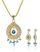 Aakhi Ocean Blue Raindrops Jewellery Set for Women (AKS_ST_CONB)