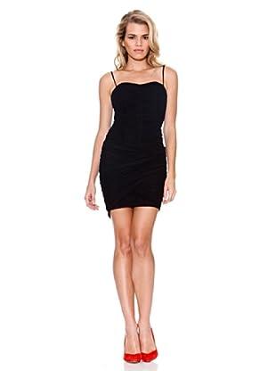 Guess Vestido Plisado (Negro)