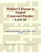 Webster's Korean to English Crossword Puzzles: Level 16