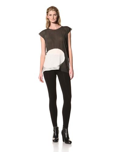 RICK OWENS Women's Moon Print T-Shirt (Black/White)