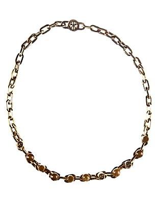 bimba & lola collar abalorios  oro antiguo / resina marron