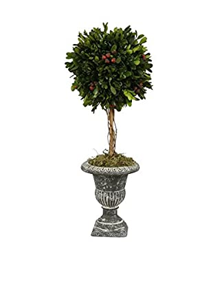 Winward Holiday Holly Topiary, Red/Green