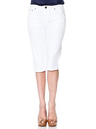 Cortefiel Hose Basic (Weiß)