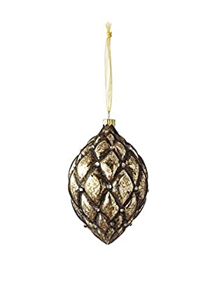 Sage & Co. Glass Tufted Drop Ornament
