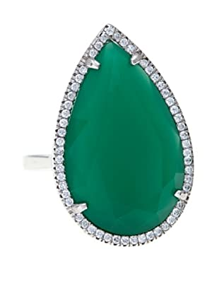 Córdoba Joyeros Anillo Spirit Diamantado & Piedra Verde
