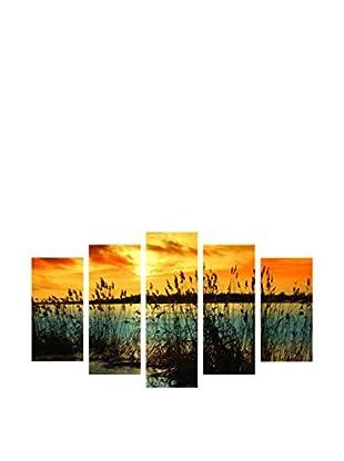 LO+DEMODA Leinwandbild 5 tlg. Set West Sun