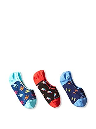 Unsimply Stitched Men's Assorted Combo No Show 3 Pack, Multi, One Size