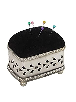 Blue Ocean Traders Square Pin Cushion, Black/Silver
