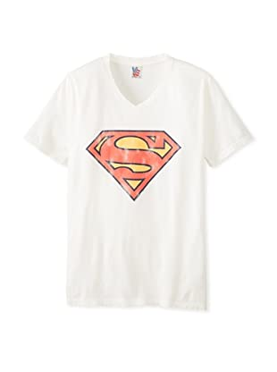 Junk Food Men's Superman Logo Short Sleeve T-Shirt (sugar)