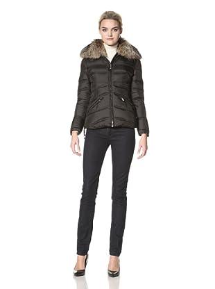 Dawn Levy Women's Josie Down Jacket with Raccoon Collar (Black)