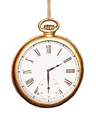 Winward Handcrafted Pocket Watch Ornament, Antique Gold