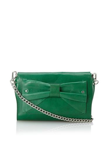 Nanette Lepore Bow Clutch (Green)