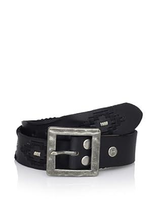 Bed Stu Women's Syrena Diamond Detail Leather Belt (Black)