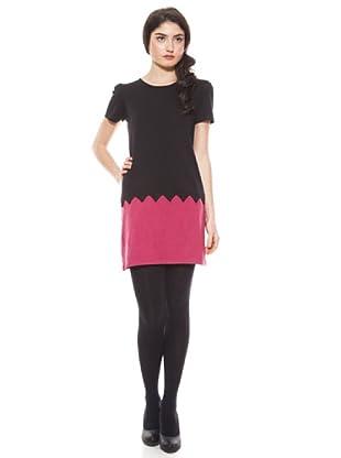 La Casita de Wendy Vestido Triángulos (negro/rosa)